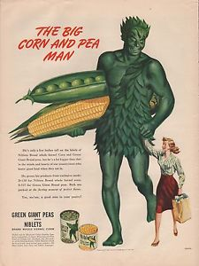 The Big Corn And Pea Man