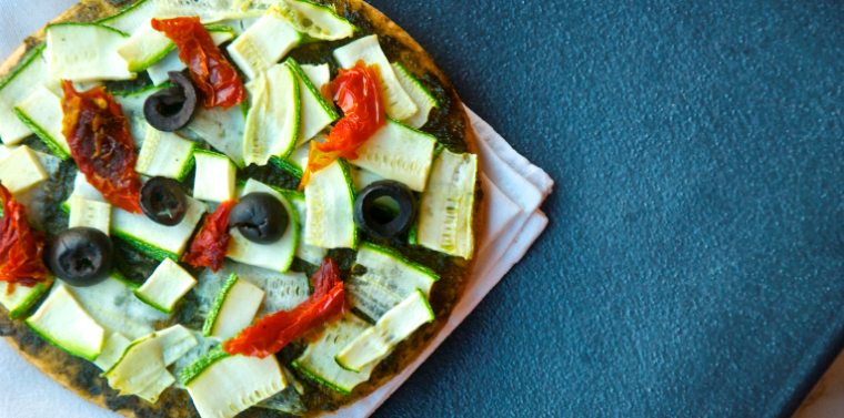 Guest Blogger Recipe - Zucchini Ribbon Pizza