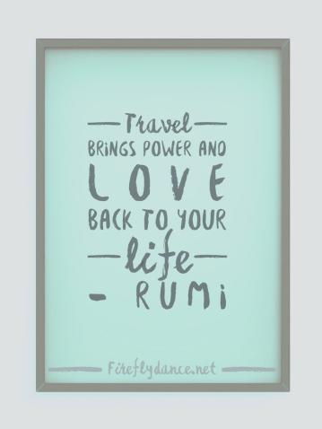 Travel quote - Rumi